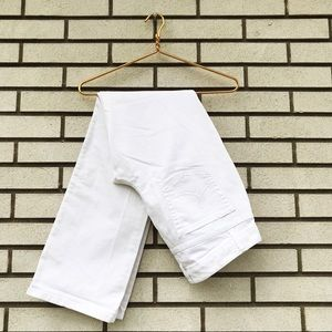 LOFT Original Boot Cut White Jeans